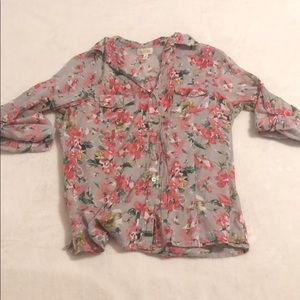 Eden & Olivia floral button up